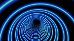 1080p tube / blue tunnel / abstract background tuneling - stock footage