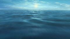 Ocean fly-through, LOOP Stock Footage