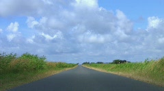 Bicycle ride on lonely highway Stock Footage