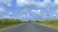 Stock Video Footage of Bicycle ride on lonely highway