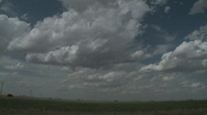 Stock Video Footage of Timelapse cumulus clouds over farmland