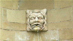 Stone Face Fountain 02 Stock Footage