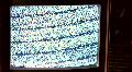 Retro TV plain dark cu Footage