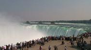 Tourists at Niagara Falls Stock Footage