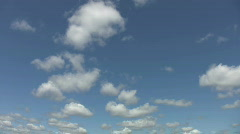Advancing cumulus clouds. Timelapse. - stock footage