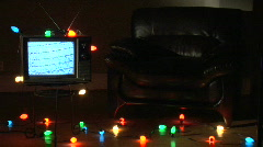 Retro TV xmas ws Stock Footage