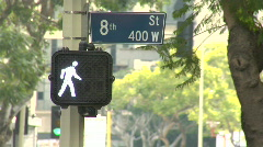 downtown - crosswalk 8th - stock footage