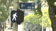 Stock Video Footage of downtown - crosswalk 8th