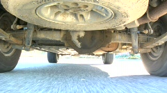 SUV undercarriage Stock Footage