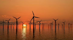 Wind farm near Denmark Stock Footage
