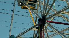 Amusement park Ferris wheel close V3 - HD  Stock Footage