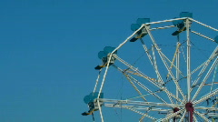 Amusement park Ferris wheel side - HD  Stock Footage