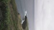 Coastline Vertical 1 Stock Footage
