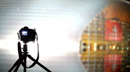 The camera photographs the big building Stock Footage