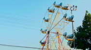 Stock Video Footage of Amusement park Ferris wheel wide - HD