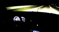 Night driving on the  freeway timelapse 3 Stock Footage