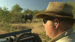 Safari Kruger Park Jeep 01 Stock Footage