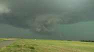 Stock Video Footage of Dramatic wall cloud under severe thunderstorm