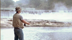 Fly Fisherman 227 - stock footage