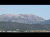 Gros Morne from Woody Point Harbour Stock Footage