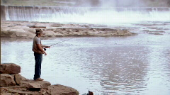 Fly Fisherman 228 - stock footage