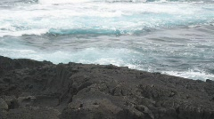 Volcanic Coastal Waves Stock Footage