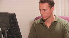 Professional Working at the Computer - stock footage
