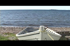 Grey Dory at Seaside - stock footage