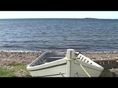 Stock Video Footage of Grey Dory at Seaside