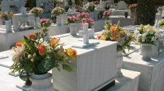 Cemetery of Malia on Crete Stock Footage