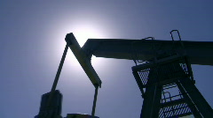 Silhouette of an oil pump Stock Footage