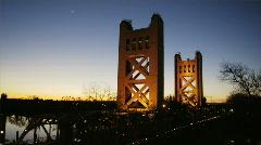 Sac Bridge Stock Footage