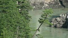Bridge, Canadian river Stock Footage