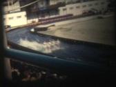 50s world fair - water ski 3 Stock Footage