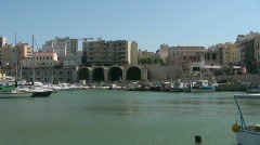 The harbor of Heraklion - stock footage