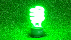 Green energy saving bulb flickers - HD  Stock Footage