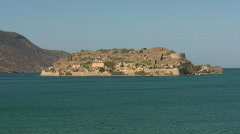 The island of Spinalonga Stock Footage