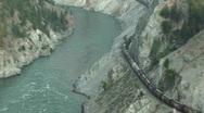 Railroad, train, Canada Stock Footage