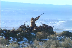 Duck hunt 02 Stock Footage
