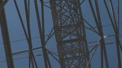 Electricity Pylon Grid Stock Footage