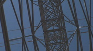 Stock Video Footage of Electricity Pylon Grid