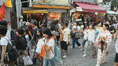 Young Japanese in Harajuku Stock Footage