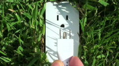 Green electrical outlet close-up - HD  Stock Footage