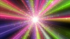 Mirror ball with rays and stars Stock Footage