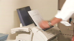 Business Fax Stock Footage