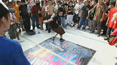 Japanese youth break dancing in Tokyo Stock Footage