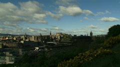 Time Lapse Clouds over Edinburgh 2 Stock Footage