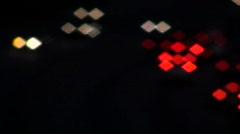 Freeway at night defocused V1 - HD  Stock Footage