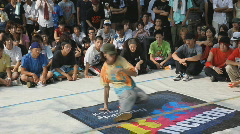A Japanese youth hip-hop dancing in Tokyo Stock Footage