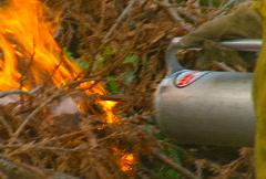 Mt. Tam Control Burn 14 Stock Footage